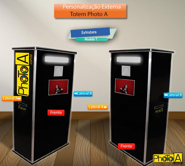 Personalização Totem de Foto - Totem Fotográfico para evento