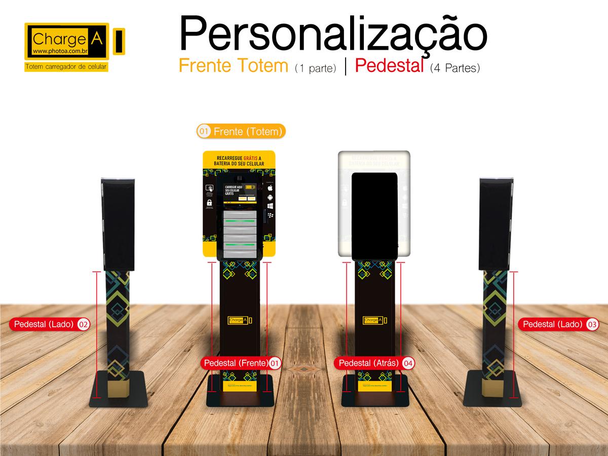 Personalização Totem Carregador de Bateria de Celular | Photo A